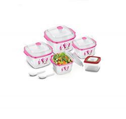 BMS Hot & Fresh Casserole Serving Gift set of 7 Pcs ,Pink