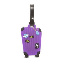 SG Purple Luggage Tag (2430)