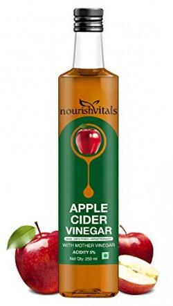 Nourish Vitals Apple Cider Vinegar 250ml - With Mother Vinegar, Raw, Unfiltered & Undiluted