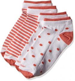 Jockey Women's Cotton Low show socks (7480-0210-WTHTM_Free Size)