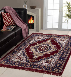 MY HOUSE Maroon Acrylic Carpet