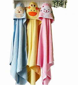 Brandonn Premium Hooded Blanket Cum Wrapping Sheet For Babies( 3 Pieces ,Multicolor) 27inch*30inch