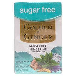Golden Ginger Anisemint Gingerine Sugar-free Herbal Drops, 45g