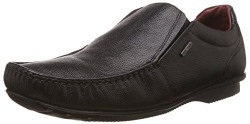 Red Tape Men's M Black Leather Loafers and Mocassins - 10 UK/India (44 EU)