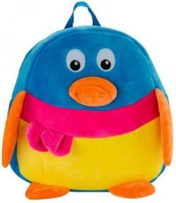AVS Soft Toy Kids School Bag (Skyblue - 35 cm