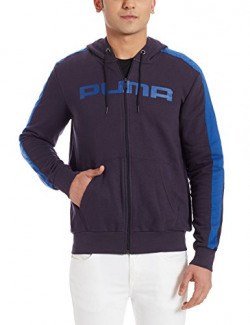 Puma Men's Cotton Hoodie (4053061569906_83063302_X-Large_New Navy)