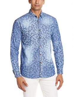 Urban District Men's Casual Shirt (URBZP_Large_Blue)