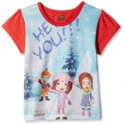 Chhota Bheem Girls' T-Shirt (GGAPP-CB417C_Multicolor_5 - 6 years)