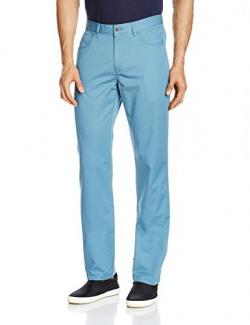 [App Only[Cherokee Men's Casual Trousers (8907242169095_263012871_32W x 34L_Blue)