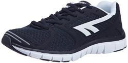 Hi-Tec Men's Black and White Running Shoes - 8 UK