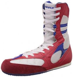 Nivia Men's White and Red Boxing Shoes - 8 UK/India (41 EU)(9 US)(400)
