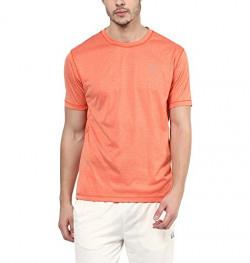 Aurro Sports Men's Polyester T Shirts Orange ASAAW16-70253A_Orange_XXL