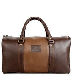 The Clownfish Ambiance Series Synthetic Brown Hybrid 30 litres Big 21 inches Duffle Luggage Bag Cabin Bag