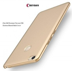 Chevron All Side 360 Degree Protection Sleek Hard Back Cover Case For RedMi 4 - Lux Gold