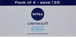 Nivea Creme Soft Soap, 75g (Pack of 4)