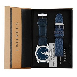 Laurels Invictius 2 Analog Blue dial Men's watch - Lo-Inc-203s With Additional Strap