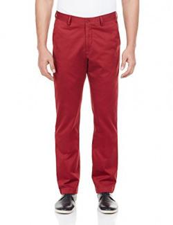 Geoffrey Beene Men's Casual Trousers (8907002996008_259297253_34_Maroon)