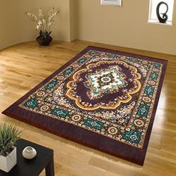 Home Elite Traditional Floral Microfibre Anti-Allergic Carpet - 55 x80 , Multicolour