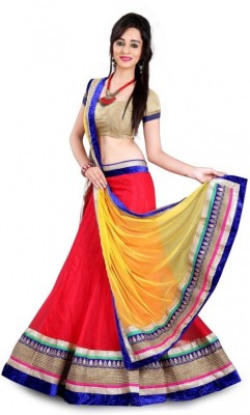 Increadibleindianwear Self Design Women's Lehenga, Choli and Dupatta Set