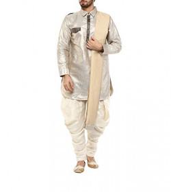 Yepme Men's White Blended Pathani Suit - YPMEKURT0197_L