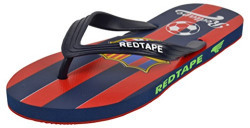 Red Tape Men's Navy and Red Flip-Flops and House Slippers - 7 UK/India (41 EU)