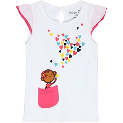 Chirpie Pie by Pantaloons Girl's Printed T-Shirt _White_6-9 M
