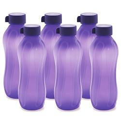 Cello Aqua Cool Polypropylene bottle, 1000ml (Set of 6, Violet)