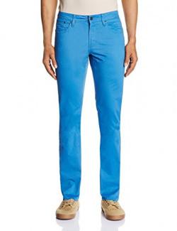 Nautica Men's Slim Fit Trousers (8907163444325_NTP43005H4SS_30_Star Sapphi)