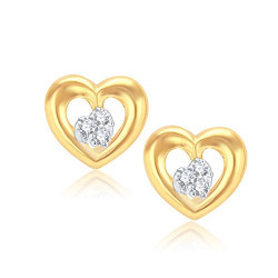 VK Jewels Agradable Gold And Rhodium Plated Alloy Earrings for Women & Girls made with Cubic Zirconia -ER1005G [VKER1005G]