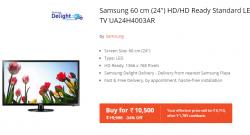 Samsung 60 cm (24) HD/HD Ready Standard LED TV UA24H4003AR