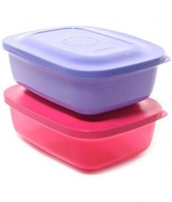 Tupperware Kompact Plastic Lunch Box, 400ml, Multicolour