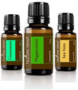 Natures Velvet Lifecare Pure Essential Oil, 30 ml Cinnomon + Peppermint + Teatree