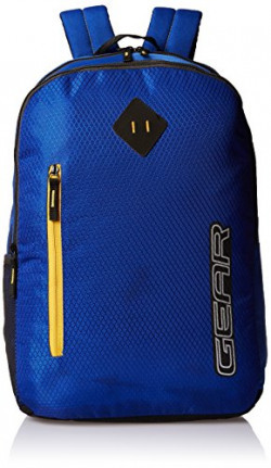 Gear 23 Ltrs Royal Blue and  Yellow Casual Backpack (METBPECO31012)