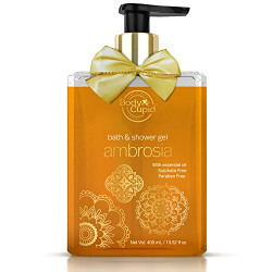 Body Cupid Ambrosia Luxury Shower Gel - Natural Shea Butter for Extra Glow - No Sulphates No Parabens - 400 ML