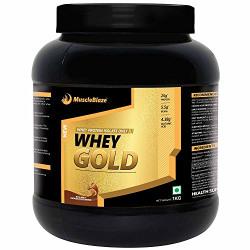 MuscleBlaze Whey Gold - 1 kg (Rich Milk Chocolate)