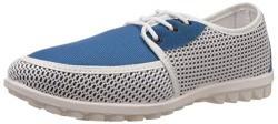 AJ Hobbs Men's Aqua Blue Canvas Sneakers - 8 UK (AJ96)