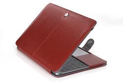 MacBook Air 13.3  Premium Artificial Leather Case Folio Book Sleeve Cover - Executive Brown
