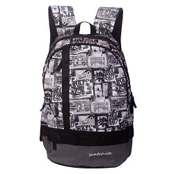 Scatchite Luxur 20 Ltrs Grey Casual Backpack (077)