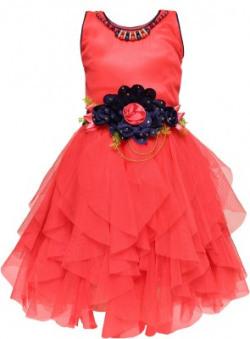 Arshia Fashions Girls Midi/Knee Length Party Dress