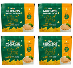 Inox Muchos Nachos Cheese and Jalapeno, 65g ( Pack of 4 )