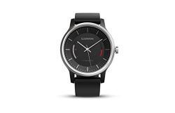 Garmin 010-01597-30 Vivomove Sport Analog Watch with Sport Band (Black)