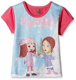 Chhota Bheem Girls' T-Shirt (GGAPP-CB418A_Multicolor_2 - 3 years)