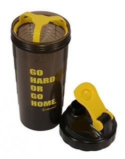 Ishake Speed 700 Shaker Bottle, 700 ml (Black Body, Yellow Lid)