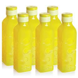 Cello Tango Polypropylene Bottle Set, 1 Litre, Set of 6, Yellow