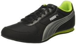 Puma Men's Superior Dp Black-Silver-Limepunch Sneakers - 10 UK/India (44.5 EU)