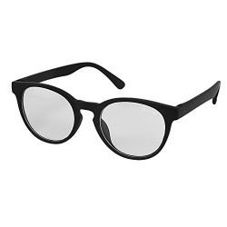 Silver Kartz Clear Lens Matt Black Authentic Oval Sunglasses (wc165)