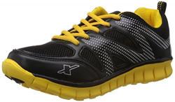 Sparx Men's Black and Yellow Mesh Running Shoes - 9 UK (SX0178G)
