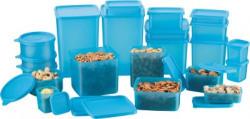 MasterCook  - 2000 ml, 1200 ml, 600 ml, 400 ml, 200 ml, 300 ml, 100 ml, 500 ml, 250 ml, 100 ml Polypropylene Multi-purpose Storage Container(Pack of 21, Blue)