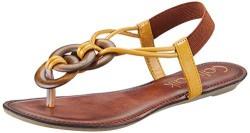 Catwalk Women's Yellow Fashion Sandals - 6 UK