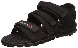 Reebok Men's Chrome Flex 2.0 Black Sandals and Floaters - 8 UK/India (42 EU) (9 US)